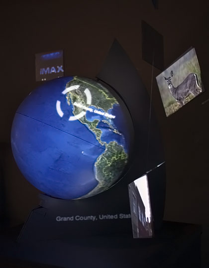 Side view of globe