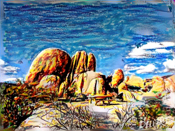 Deepart: Joshua Tree in paintsticks