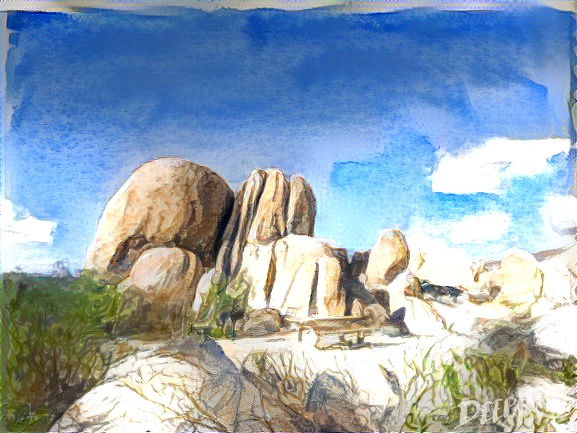 Deepart: Joshua Tree in watercolor
